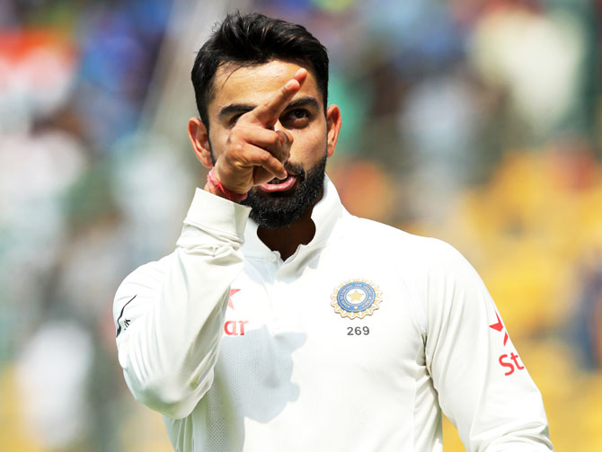Rediff Cricket - Indian cricket - Kohli nearly accuses Smith of cheating over DRS row