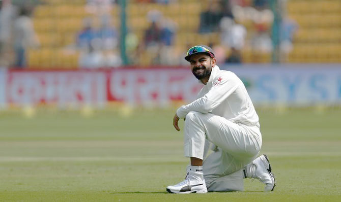 Rediff Cricket - Indian cricket - Kohli hopes surface tension keeps India afloat in Ranchi