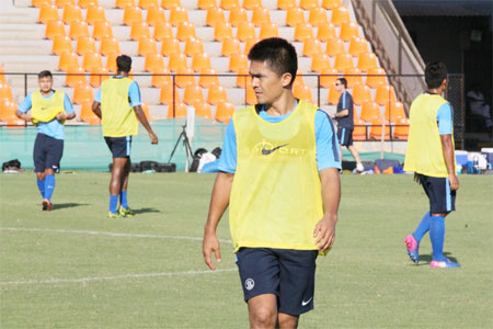Rediff Sports - Cricket, Indian hockey, Tennis, Football, Chess, Golf - We have a realistic chance of qualifying for AFC Asian Cup: Chhetri