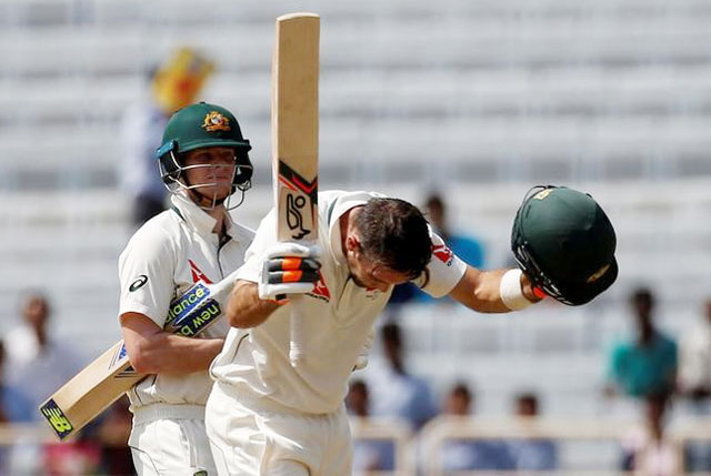 Rediff Sports - Cricket, Indian hockey, Tennis, Football, Chess, Golf - Smith-Maxwell partnership propels Australia