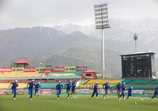 Rediff Cricket - Indian cricket - Australia eye 'rare series win' on Dharamsala's Test debut