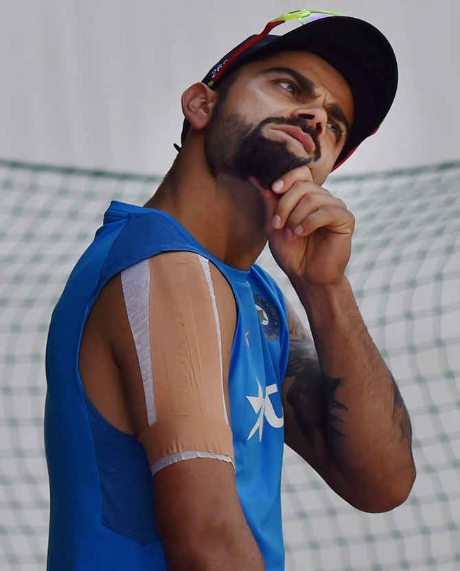 Rediff Cricket - Indian cricket - Cautious Kohli skips batting at nets ahead of 4th Test