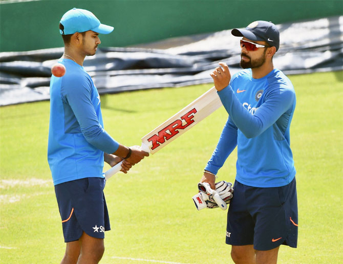 Rediff Cricket - Indian cricket - Kohli's injury puts India under pressure in Dharamsala decider