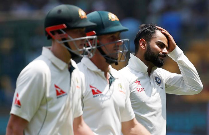Rediff Cricket - Indian cricket - Waugh's mental disintegration: 'Pressure is on India'