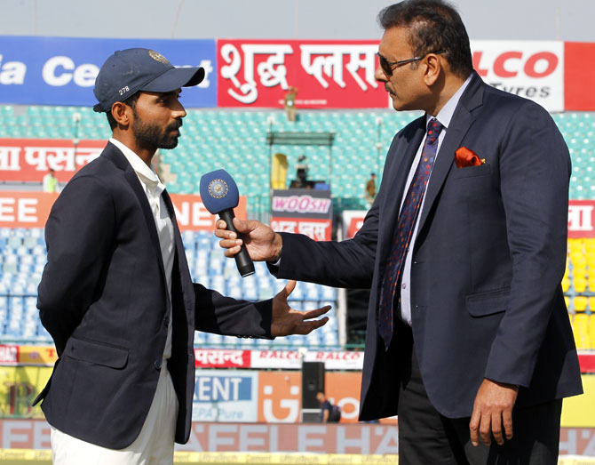 Rediff Cricket - Indian cricket - Kohli out of Dharamsala Test with injury, Rahane leads India