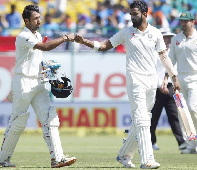 Rediff Cricket - Indian cricket - Stats: INTERESTING numbers from Dharamsala Test, Day 2