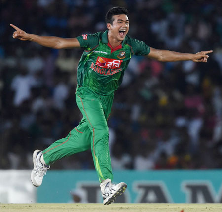 Rediff Cricket - Indian cricket - Dambulla one-dayer washed out after Taskin Ahmed hat-trick