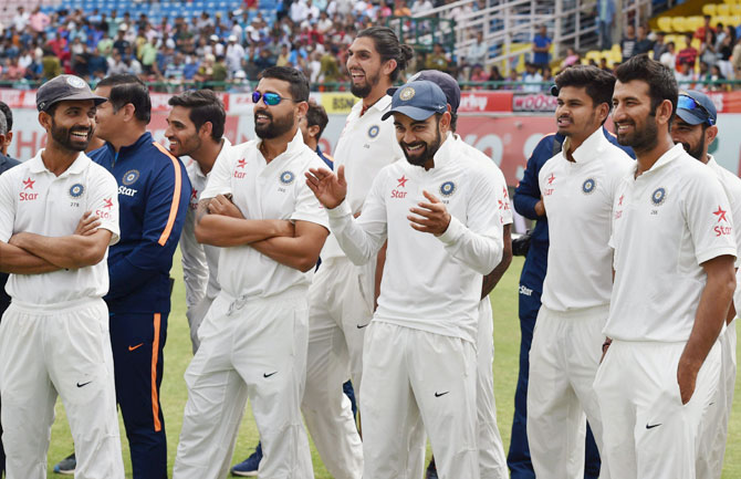 Rediff Cricket - Indian cricket - 'Credit to India for fighting back after losing Pune Test'