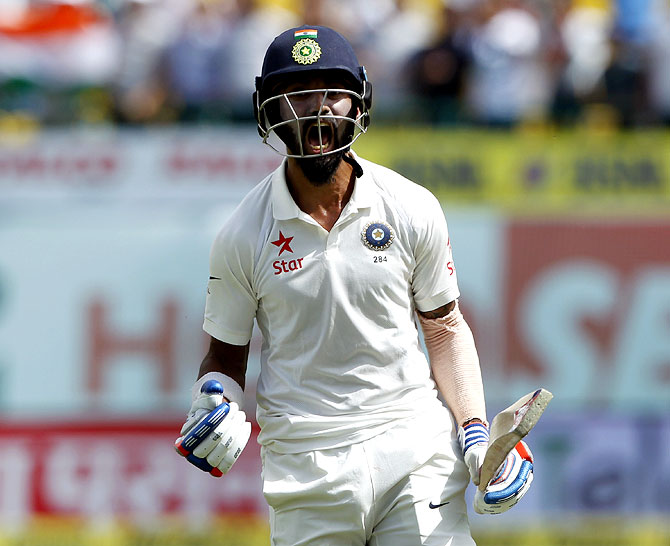Rediff Cricket - Indian cricket - With six half-tons  Rahul emulates Border, Artherton