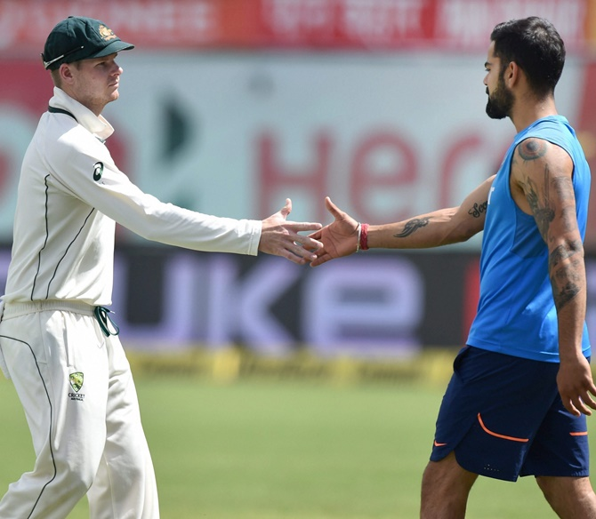 Rediff Cricket - Indian cricket - Beergate: Was Kohli hinting at Smith?