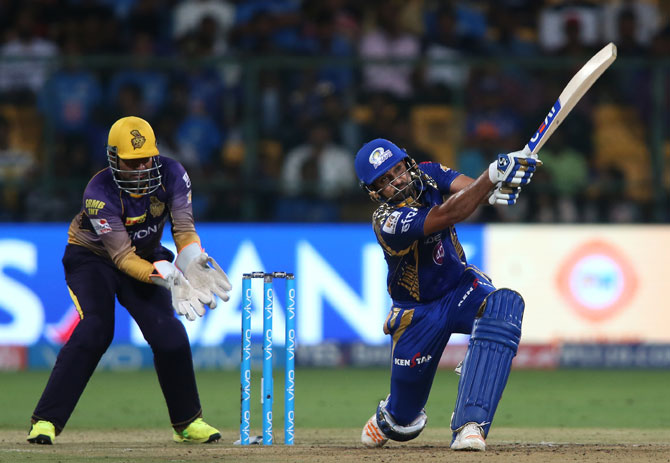 Rohit Sharma goes big during his innings of 26