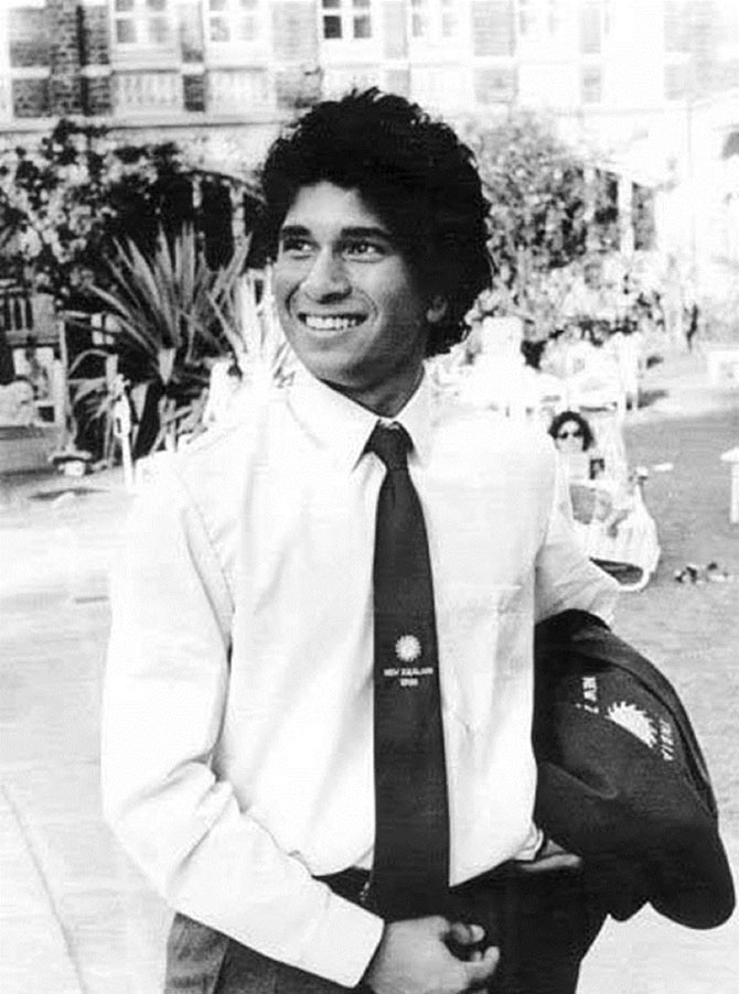 A throwback picture of Sachin Tendulkar during his early days in Indian cricket