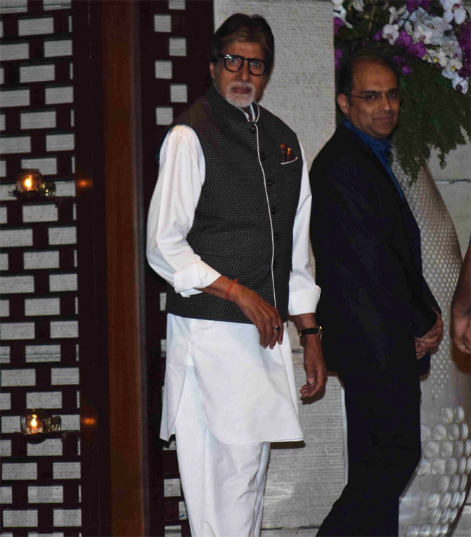 Amitabh Bachchan arrives at the venue