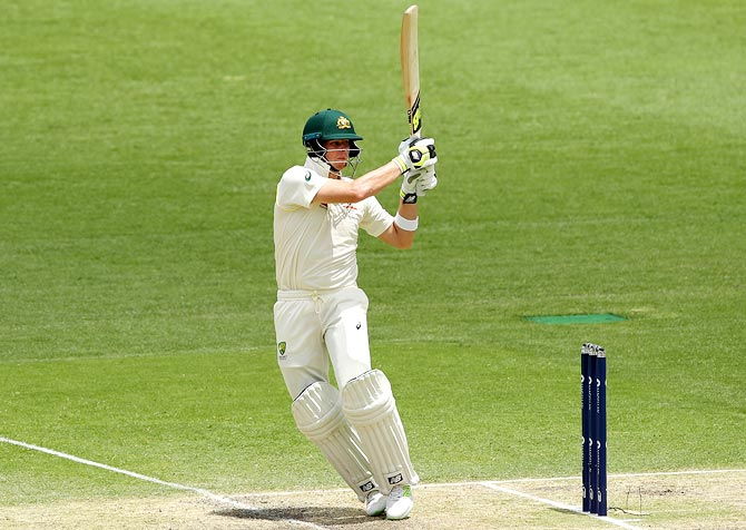 Steve Smith bats during Day 3