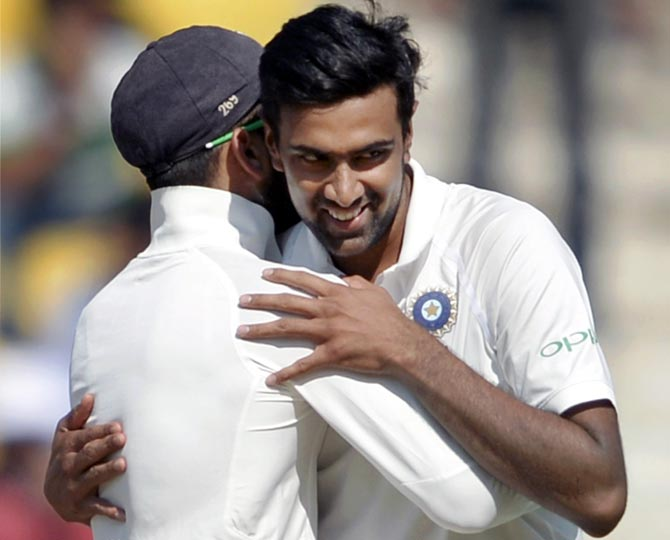 R Ashwin has picked 50 Test wickets in the third consecutive calendar year