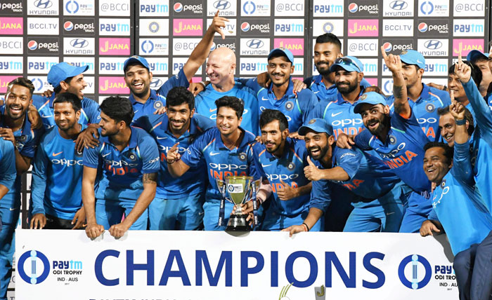 Rediff Cricket - Indian cricket - India record their 6th consecutive bilateral series win under Kohli!