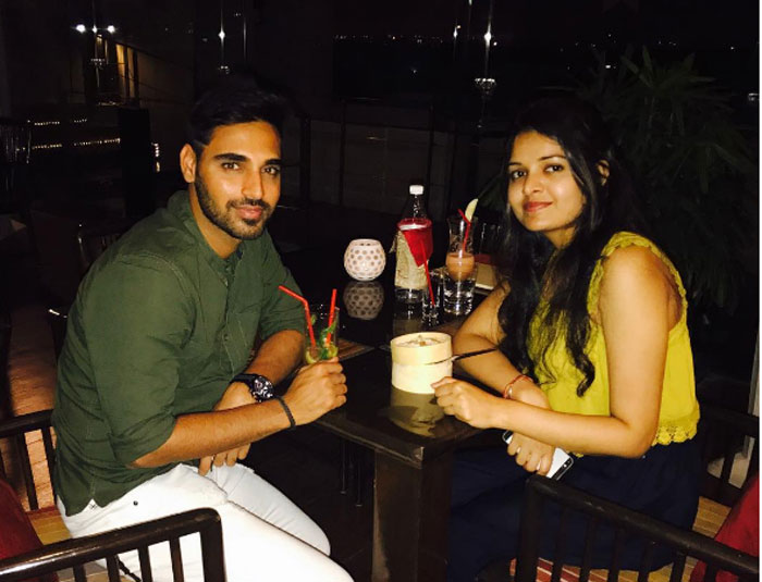 Bhuvneshwar Kumar shared this sweet picture on his Instagram page