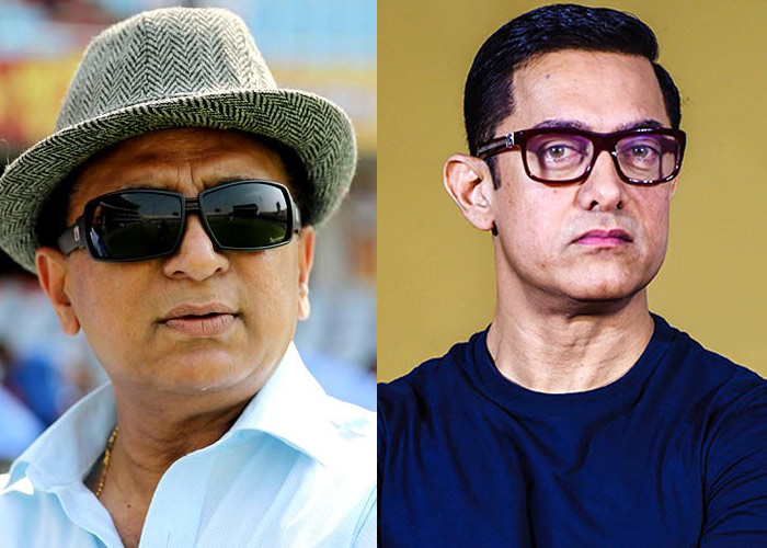 Sunil Gavaskar and Aamir Khan