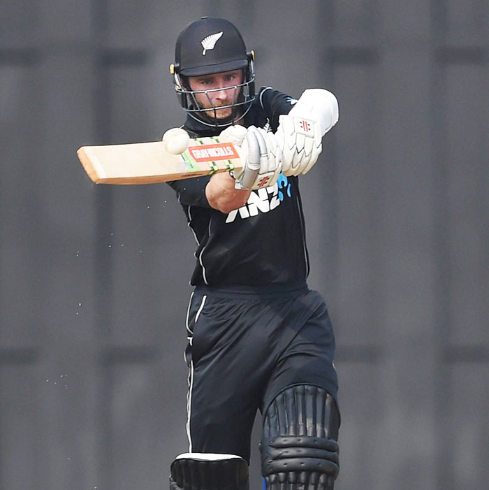 New Zealand captain Kane Williamson plays a shot during a practice match against Indian Board President XI in Mumbai on Tuesday