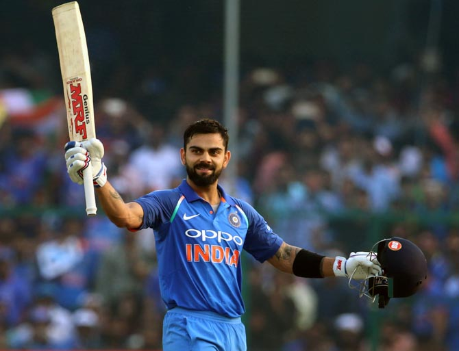 Rediff Sports - Cricket, Indian hockey, Tennis, Football, Chess, Golf - Virat breaks one record after another