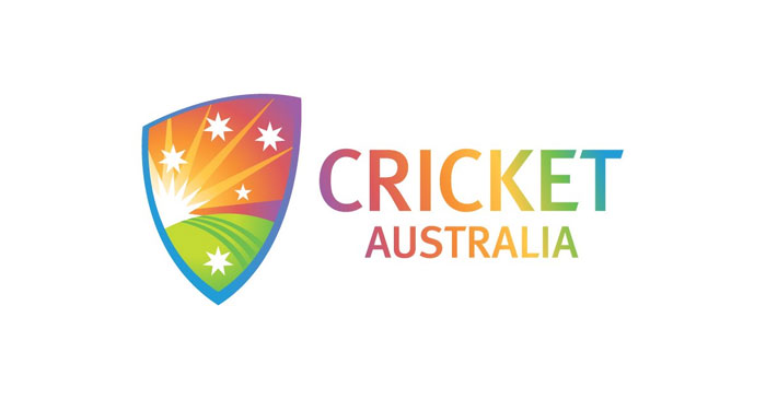 Cricket Australia's tweeted a photo of their logo painted in hues of the rainbow
