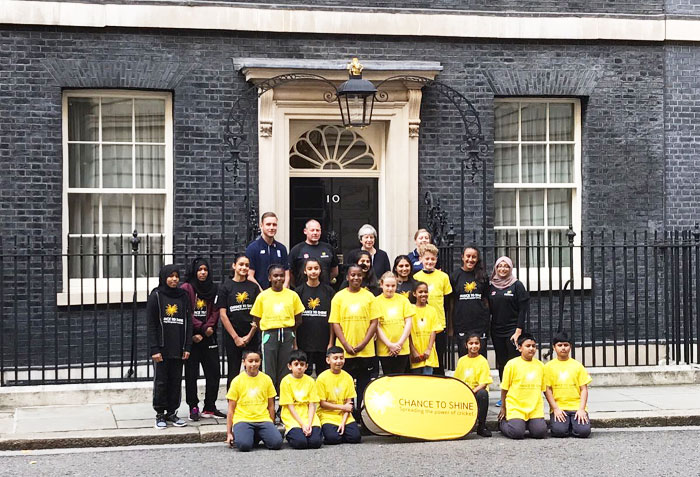 Rediff Cricket - Indian cricket - Pics: Broad plays in first cricket match at 10 Downing Street