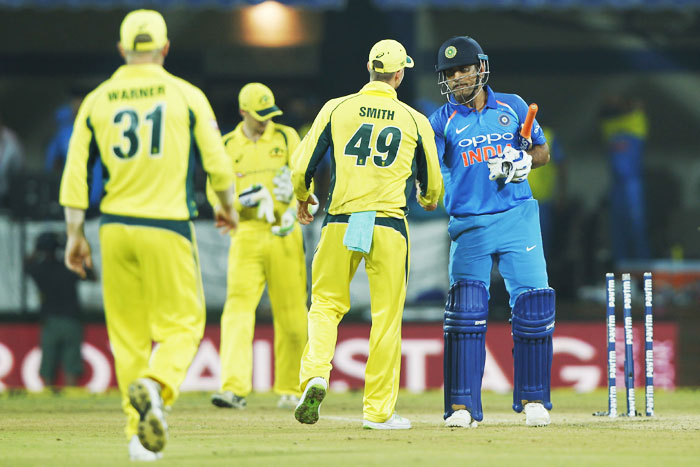 Rediff Cricket - Indian cricket - PHOTOS: Clinical India overpower Aus in Indore to clinch series 3-0