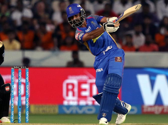 Rediff Cricket - Indian cricket - Rahane rues lack of partnerships after loss to Sunrisers
