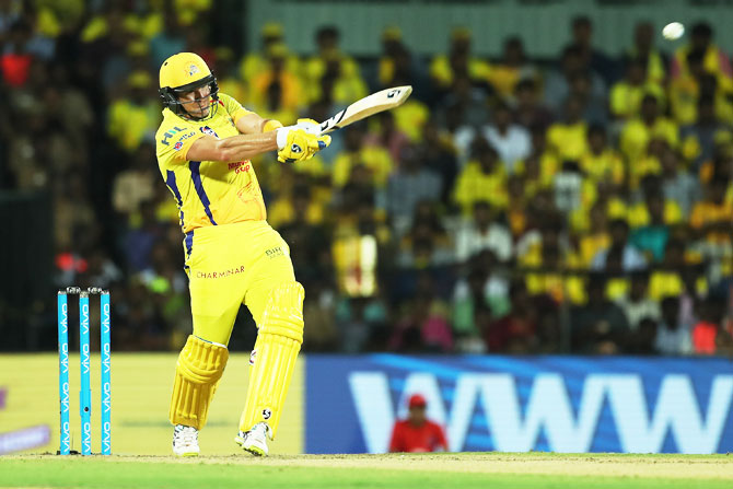 Chennai Super Kings' Shane Watson played a blazing innings at the top of the order