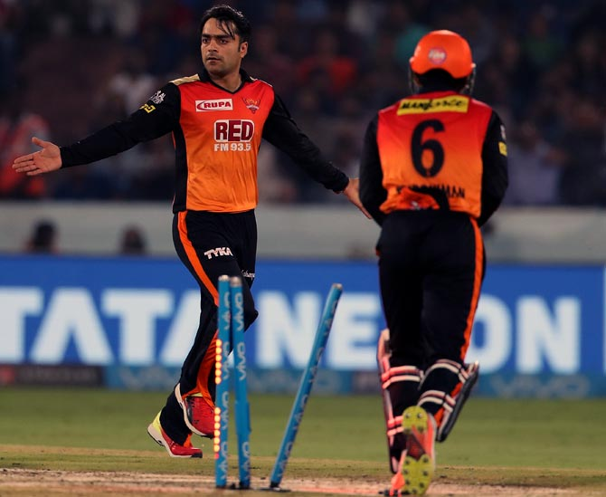 Rediff Cricket - Indian cricket - How Rashid is important piece to Sunrisers Hyderabad's puzzle