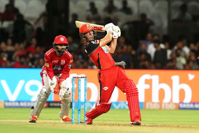 Royal Challengers Bangalore'S AB de Villiers bats during his match-winning innings against Kings XI Punjab on Friday