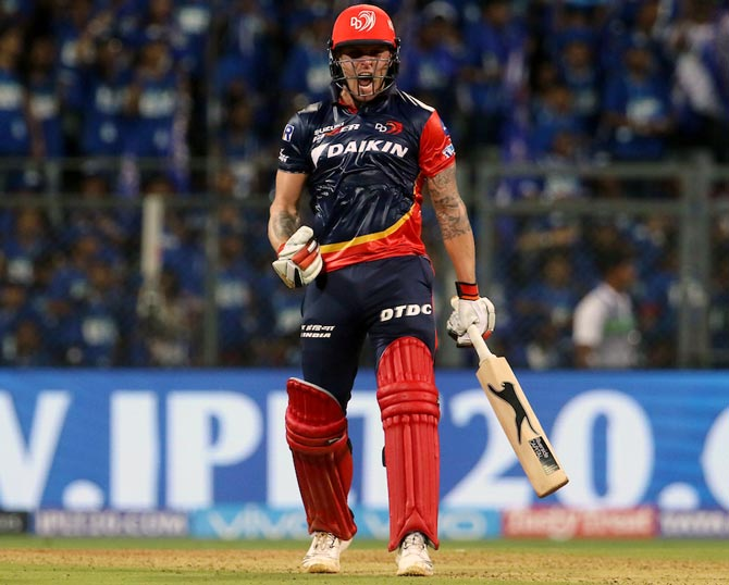 IPL PHOTOS: Roy's blitzkrieg helps Delhi edge past Mumbai
