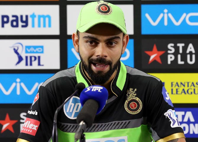 Rediff Cricket - Indian cricket - RCB captain Kohli admits his mistake