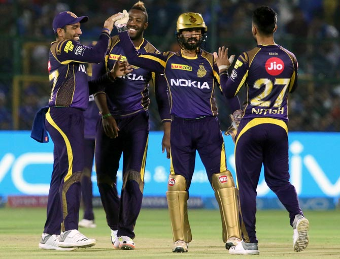 Rediff Cricket - Indian cricket - IPL PHOTOS: KKR ease to victory against Rajasthan