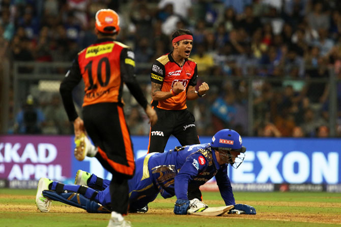 IPL PHOTOS: Sunrisers Hyderabad stun MI in low-scoring game