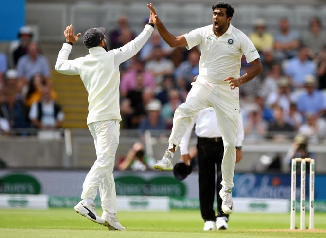 Rediff Sports - Cricket, Indian hockey, Tennis, Football, Chess, Golf - PHOTOS: How Ashwin sent England crashing on Day 1