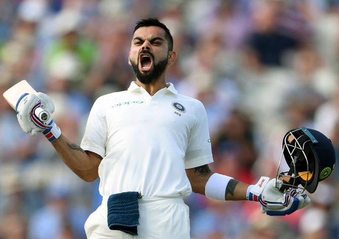 Rediff Sports - Cricket, Indian hockey, Tennis, Football, Chess, Golf - PHOTOS: Gritty Kohli hits century to lead India's fightback