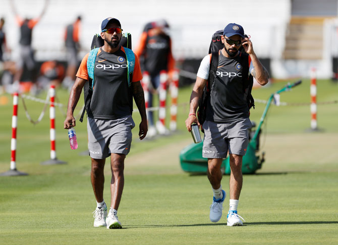 Rediff Sports - Cricket, Indian hockey, Tennis, Football, Chess, Golf - Team India still in quandary over Playing XI ahead of Lord's Test