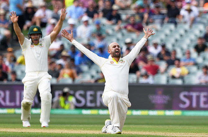 Rediff Cricket - Indian cricket - Australia's GOAT Nathan Lyon walks the talk and how!