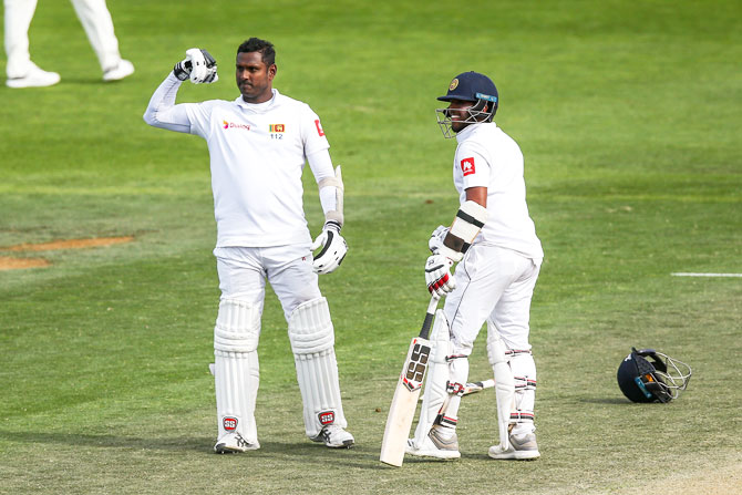 dea9fcad 1st Test: Mathews helps Sri Lanka defy New Zealand - Rediff Cricket