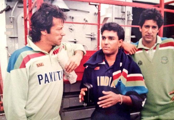 Imran Khan, Sanjay Manjrekar, Wasim Akram