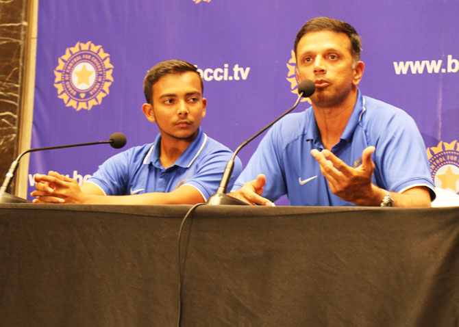 India Under-19 coach Rahul Dravid (right) revealed on Monday that the team did not have any different strategies for Pakistan match