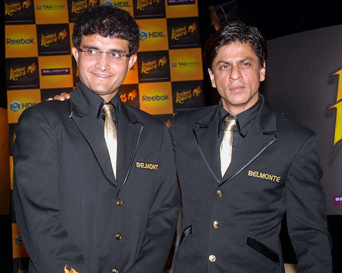 Sourav Ganguly and Shah Rukh Khan