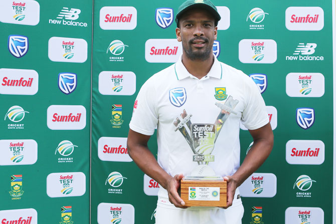 South Africa's Vernon Philander picked six wickets to be named Man of the Match