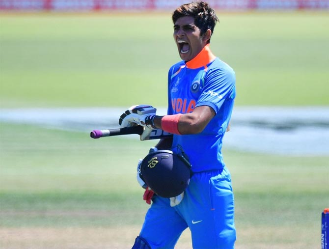 Image result for shubman gill u19""