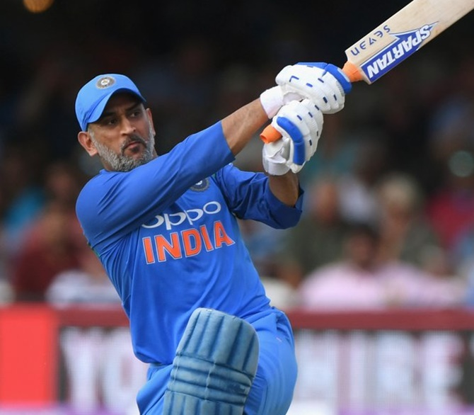 Rediff Sports - Cricket, Indian hockey, Tennis, Football, Chess, Golf - Dhoni 4th Indian batsman to score 10,000 runs in ODIs