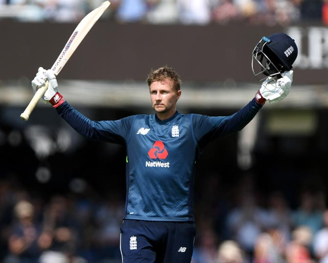Rediff Sports - Cricket, Indian hockey, Tennis, Football, Chess, Golf - PHOTOS: Root's century inspires England to series-levelling win