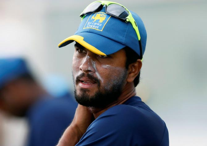Rediff Sports - Cricket, Indian hockey, Tennis, Football, Chess, Golf - SL captain Chandimal and coach banned for two Tests, four ODIs