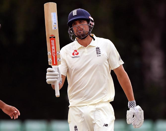 Rediff Sports - Cricket, Indian hockey, Tennis, Football, Chess, Golf - Cook hits century to keep India 'A' at bay