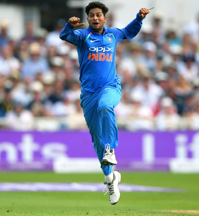 Rediff Sports - Cricket, Indian hockey, Tennis, Football, Chess, Golf - How England plan to nullify India's spin wizard Kuldeep